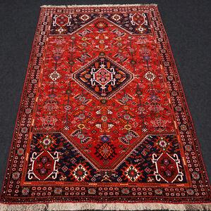 Orient Nomaden Teppich 200 x 130 cm Gashgai Schiraz Perserteppich Handgeknüpft