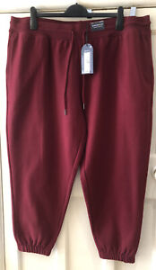 BNWT MARKS & SPENCER GOOD MOVE RUST CUFFED JOGGERS TRACKSUIT BOTTOMS - 24 SHORT