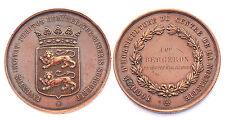 Médaille Société d'Horticulture Centre la Normandie. Attribuée. Vers 1870.Cuivre
