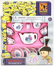 New Universal Studios Despicable Me Minion Mayhem Agnes' Porcelain Mini Tea Set