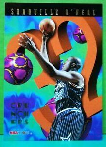 Shaquille O'Neal insert card Crunchers 1995-96 Skybox Hoops #2