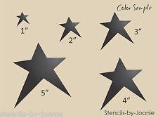 Joanie STENCIL Primitive Annie Stars U Paint Sign Country Art Furniture Canvas