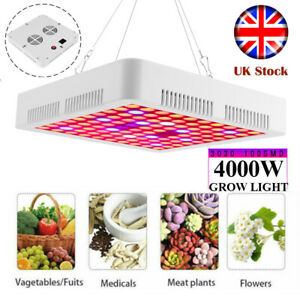 4000W LED Grow Light Hydroponic Full Spectrum Indoor Flower Plant Lamp Panel UK