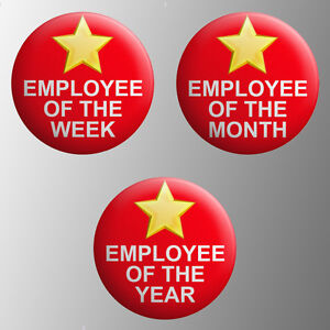 Employee Of The Month Week Year Button Badge 1 inch / 25mm Novelty