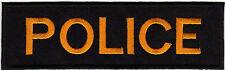 Aufnäher Bügelbild Iron on Patches Uniform Abzeichen Police Polizei gold (a3m8)
