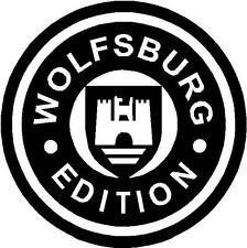 VW Volkswagen Wolfsburg Edition logo cut vinyl window/bumper sticker