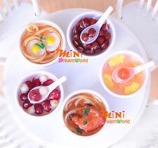 5 pcs Bowl of Deserts Noodles for Barbie BJD 1/6 Dollhouse Miniature Food TOY