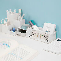 Desktop Organizer Home Office Pencil Stationery Pen Holder Sorting Storage Box