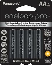 Panasonic BK-3HCCA4BA Eneloop Pro AA Pre-Charged Batteries 4 Pack up to 2550mAH