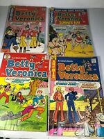 Lot Of 4 Archie Betty And Veronica Comics #216,224,227,232