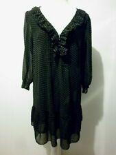 Robe Noir Pois Blanc 42/44 L Comme Neuve TOLENTINO Femme