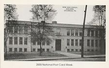 New High School Building Edgewood PA Reproduction Postcard