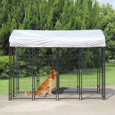 New listing Outdoor Pet Cage Large Kennel Steel Wire Pen Run House Cover Shade Shelter Yard