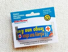 AllerMates Tengo Una Alergia WRISTBAND Medical Alert WRITABLE Bracelet SPANISH