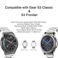 bracelet de montre bande Acier inoxydable Pour Samsung Gear S3 Classic/Frontier