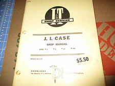 I&T SHOP SERV. MANUAL CASE SERIES D S LA VA 1954 C-16