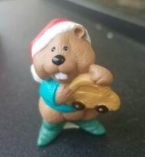 Vintage 1995 Hallmark Merry Miniatures Beaver Toymaker Qfm8289 Christmas Figure