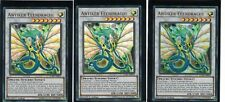 3 x Antiquité Dragon d'OR lckc-de070,ultra rare,Allemand,1 ère Edition,PLAYSET