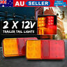 2PCS 12LED Car Stop Brake Tail Lights WATERPROOF Truck Boat Trailer Lamp12V AU