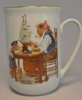 1982 Norman Rockwell Museum Collectible Mug Cup - For A Good Boy - Mint