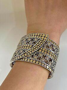 JOHN HARDY 925/18K  Dot Kick Cuff Bracelet- Polished to New Retails $3200