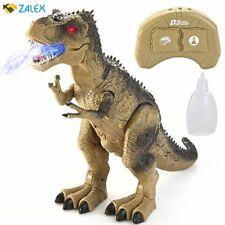 Joyin Jumbo Rc T-Rex Dinosaur Toy, with Light & Sound, Electronic Walking, Spray