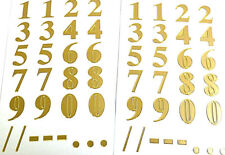 3X TRANSPARENT GOLD//SILVER STICKER LETTERS//NUMBERS 23X10 CM NEW STICKERS848