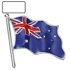 Australia Flag Enamel Brooches Platinum Plated
