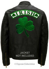 IRISH SHAMROCK BIKER PATCH CLOVER (TWO) 2 LARGE BACK PATCH embroidered IRELAND
