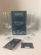 Vintage Marquis by Waterford Vintage Champagne Flutes Box Set of 4 Msrp $49.00
