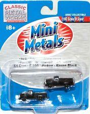 CMW Mini Metals #50272 - 2- '54 Ford F-350 Pickups - Raven Black - Free Shipping