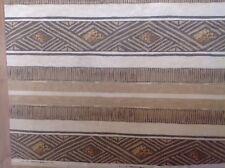 """Sambala"" Uphoistery Furnishing Brown & Tan Material By Home Fabrics 123"" x 55"""