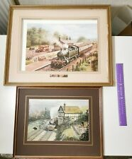More details for train prints in frames missing glass x 2