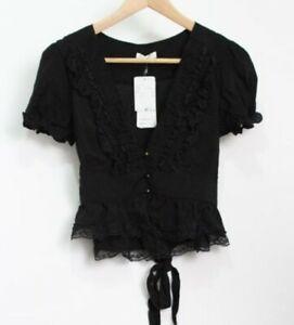 axes femme - black top - new with tags - gyaru jfashion harajuku blouse
