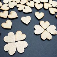 50 x 2cm/20mm MDF/Wood Laser Cut Hearts - Embellishment, Craft Shapes