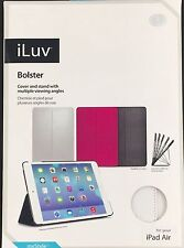 iLuv Bolster White Cover & Stand for iPad Air Multiple Viewing Angles