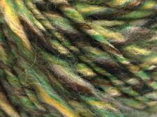Peru Alpaca Bulky Yarn - Green Brown Twist #53354 50g Merino Wool Alpaca Acrylic