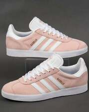adidas Gazelle Trainers in Light Pink & White - suede retro classic SALE