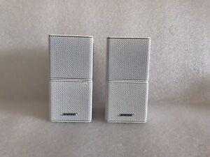 2 x Bose Acoustimass Lifestyle Surround Sound Premium Cube Speakers, White