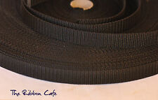 Black webbing strapping 38mm wide 5 METRES