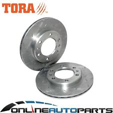 Front Slotted + Drilled Disc Brake Rotors suits Landcruiser FJ60 FJ62 HJ60 HJ61