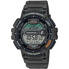 Casio Colección Buscador de los pescados Gris Dial Reloj Correa de resina verdes WS-1200H -3 AVEF