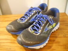 Brooks Ghost 9 DNA  Men Gray Mesh/Blue Trim Sneakers Running Tennis Shoes 12 EE