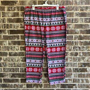 Women's Sleepwear Fleece Pajama Pants Christmas Pattern Size 2X