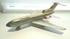 Vintage tin plane battery operated Lufthansa B727 made by Marx