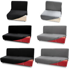 Fundas para sofás Cama Clic-Clac Brazos de madera Funda para sofá 1/2/3 plazas