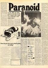 Black Sabbath Ozzie Osbourne Paranoid MM5 Interview 1975