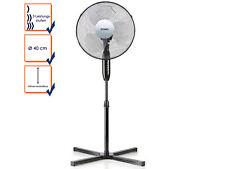 Standventilator schwarz Ø 40 cm Lüfter Windmaschine Standlüfter 120cm 40 Watt
