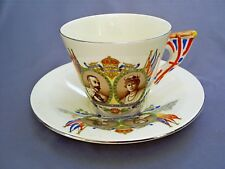 1935 BURLEIGH WARE KING GEORGE V/QUEEN MARY SILVER JUBILEE CUP & SAUCER/NETHERBY
