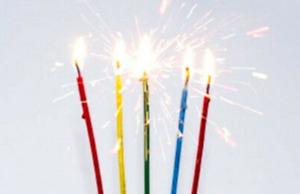 40 Sparkling Candles, for Cakes, Birthdays, Wedding, Cocktails, Etc